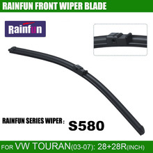 RAINFUN dedicated car wiper blade for VW OLD TOURAN(03-10), 28+28R INCH auto wiper with natural rubber, 2 pcs a lot