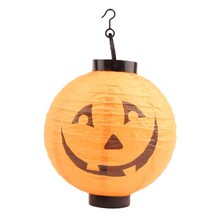 6Pcs/Set Different Pattern Halloween Decorations LED Pumpkins Lantern Jack Skeletons Spiders Bats Haunted New Arrival