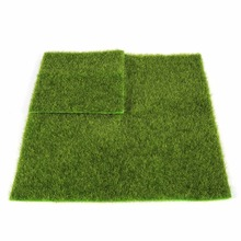 Micro Landscape Decoration DIY Mini Fairy Garden Simulation Plants Artificial Fake Moss Decorative Lawn Turf Green Grass(Hong Kong)
