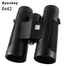 Eyeskey Binoculars 8x42 Waterproof Binoculars Hunting Telescope Bak4 Prism with Neck Strap for Camping Binoculares Professional(China)