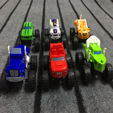 New 6pcs/set Vehicle Blaze and the Monster Machines Vehicles Diecast Toy Racer Cars Trucks Anime Action Figure Kids toys Gifts