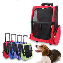 Large Pet Travel Bag Breathable Mesh Pet Trolley Newest Design Multifunction Pet Carrier Bag With 3 Colors