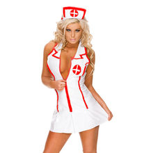 Women Cosplay Nurse Erotic Lingerie Sets Hot New Fancy Sexy Dress+Hat+G-string Uniform Halloween Costume Roleplay Underwear(China)