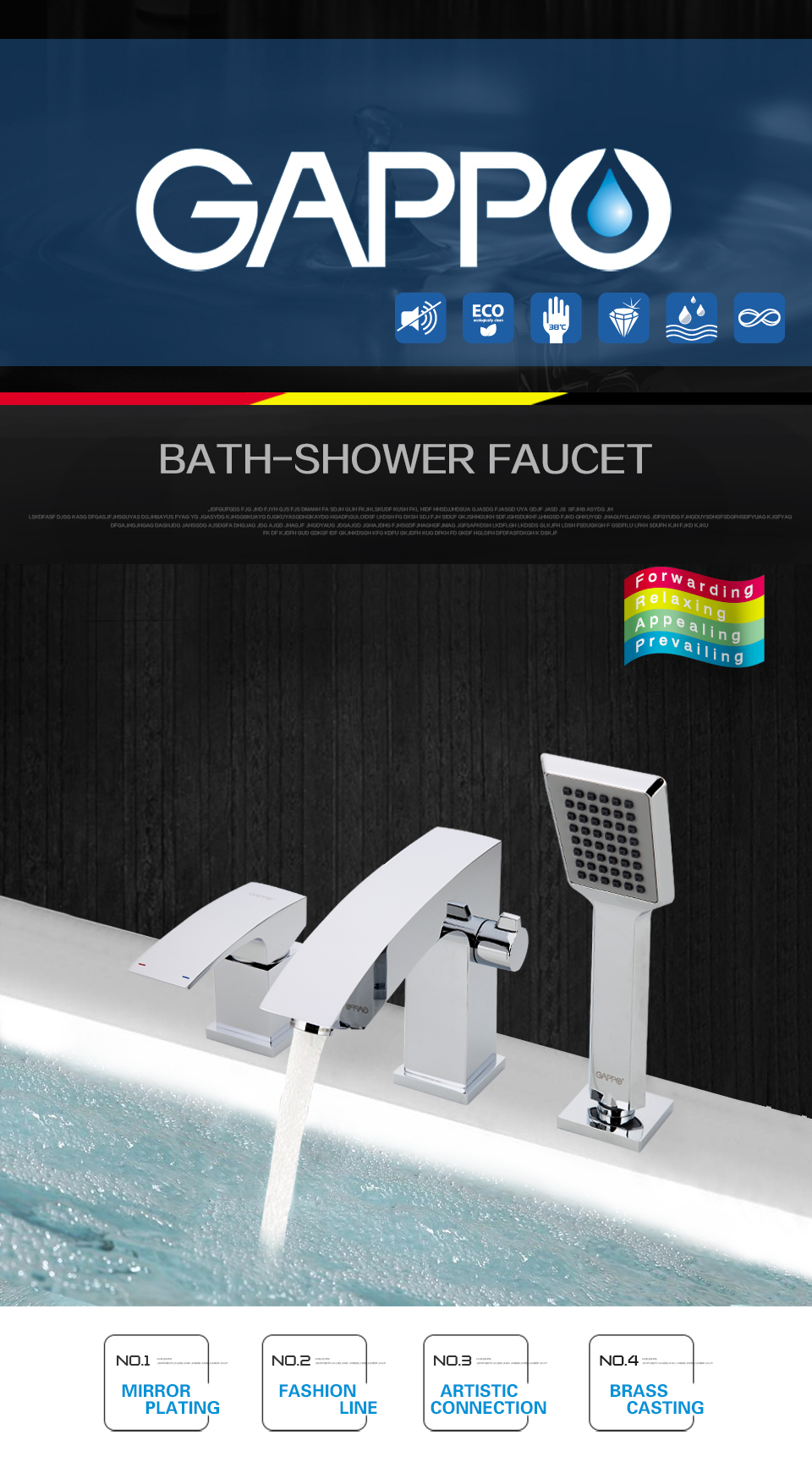 GAPPO bathroom shower faucet Bathtub Faucet tap bath shower shower set waterfall bathtub sink faucet water mixer sink taps G1107