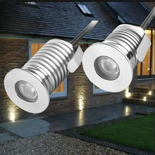 Waterproof IP65 LED Deck Step Light Recessed Stair Lamp Paitio Inground Spotlight Garden Lamp Wall Lighting 12V 10pcs/lot(China)
