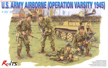 RealTS Dragon 6148 1/35 U.S. Army Airborne Operation Varsity 1945 Plastic Model Kit(China)