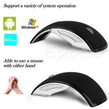 Ultrathin 2.4GHz Foldable Wireless Arc Optical Mouse Mice USB Receiver For Pad PC Laptop Notebook Computer 6 Color  #K400Y#