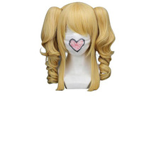 "Hair Cap+Handmade 16"" Curly Mixed Blonde Cosplay Wig + 2 ponytails - Black Butler Elizabeth Heat Resistant Synthetic Wigs"