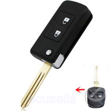 New Blank Flip Folding Remote Key Shell Case For Subaru Legacy 2 Buttons