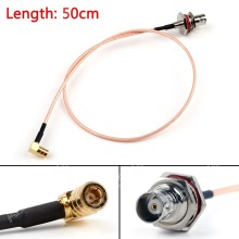 Sale 50cm RG316 Cable BNC Female Jack To SMB Female Jack Right Angle Pigtail 20in FPV High Quality Mini Jackplug Wire Connector
