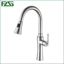 FLG Factory Direct Sale Kitchen Faucet 304 Stainless Steel  Kitchen Faucet With Pull Out 360 Degree Rotating Water Faucet CS005