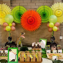 30cm 20cm Tissue Paper Cut-out Paper Fans Pinwheels Hanging Flower Paper Crafts for Showers Wedding Party Birthday Festival 5pcs