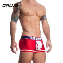 2018 Orlvs Brand New PUMP Mesh U Pouch Boxer Men Underwear Sexy Underpants Cueca Cotton Pants Trunks Boxer shorts Male Panties(China)