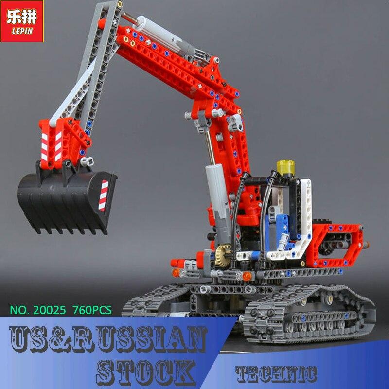 Lepin 20025 760Pcs Genuine Technic Series The Red Excavator Set Children Educational Building Blocks Bricks Boys Toys Model 8294<br>