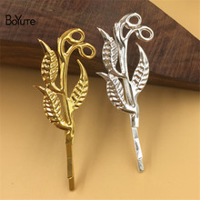 BoYuTe 20Pcs 40*42MM Leaves Shape Hairpin Metal Iron Diy Women Hair Ornaments Accesories(China)