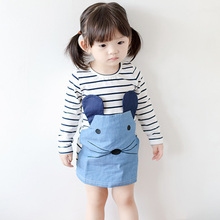 2017 Spring Autumn baby fairy dress Princess Korean Temperament dresses quality cute baby girls kids clothes party dress girls