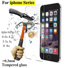 Buy 2.5D 0.3mm Ultra HD Premium Tempered Glass Screen Protector iPhone 4 4S 5 5S 5C SE 6 6S plus Toughened protective film for $1.27 in AliExpress store
