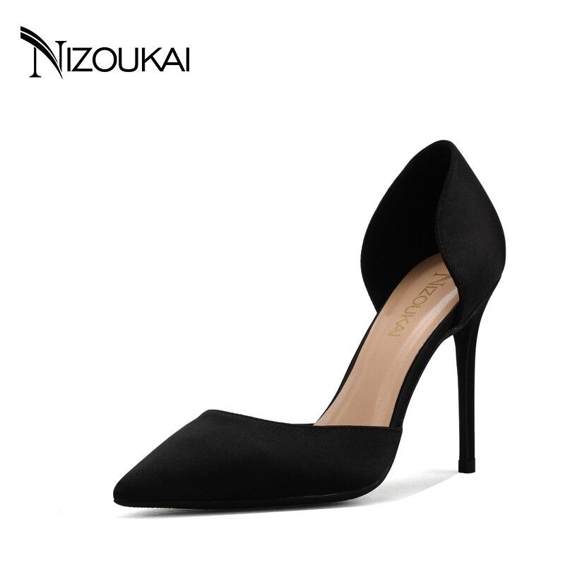 Women Shoes High Heels Pumps Red High Heels Women Shoes Party Wedding Shoes Pumps Black Nude Red heels Plus Size 43 44 ljx06-c10<br>