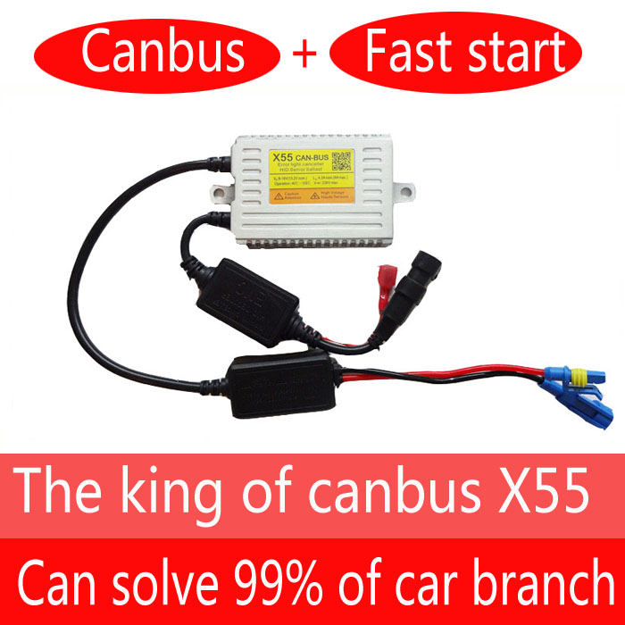 DLT X55 Canbus ballast 55W 9~16V HID Ballast with canbus error free Silver color for hid kit 18 months warranty<br>