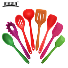New Kitchen Cooking Tools Coated Nylon And Silicone Cookware Spatula And Spoon Colorful Kitchenware 6 Style