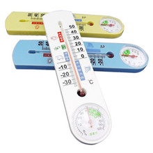 Easy to use Simple Clear Vertical Thermometer and Hygrometer Classic with Pointer for family