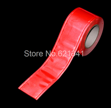 "Orange PVC reflective stripe reflective cloth material reflective belt safety clothing accessories reflective tape 50mm(2"")"
