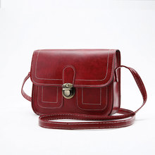 2017 new Korean version of the small square bag car line fashion handbags retro  shoulder  Messenger bag phone bag