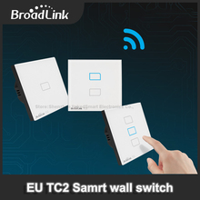 Broadlink TC2 EU Standard 1 /2 /3 gang ,mobile Remote light lamps wall wifi Switch via broadlink rm2 rm pro,smart home domotica(China)