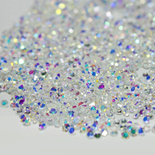 1-1.6mm AB Glass Micro Rhinestones for Nails Crystals Strass Nail Art Decorations Nail Design Strass Unha Crystal Pixie MJZ001