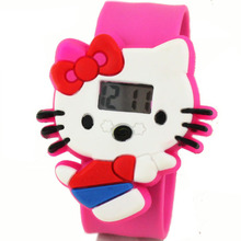 Hello Kitty cartoon cute children's electronic watches manufacturers wholesale special offer student girls kids clock