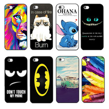 2016 Magic Design Cover For Apple iPhone 4S iPhone4 Case Cat Lion Toothless Phone Cases Covers Shell
