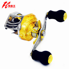 HLW Gold 19BB Brand Saltwater Fishing Baitcasting Reel Left Right Hand Metal Spool Handle Bait Casting Reel Fishing Reel Carbon