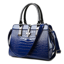 2016 New Arrival women Leather bags Patent Shoulder bags 2016 fashion crossbody bags for women doctor handbags Alligator(China)
