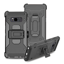 4 In 1 Combo Heavy Duty Shockproof Hybrid Rugged Case With Belt Clip Holster Hard Phone Shell Cover For Samsung Galaxy Note 8(China)