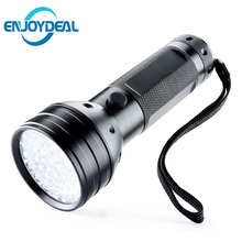Uv Led Flashlight 51 Leds 395nm Ultra Violet Flash Lamp Torch Light Lamp Backlight Protable Linternas Mini Ultraviolet Linternas
