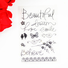 Beautiful dream flowers with birds Eco-friendly Transparent Stamp For DIY Scrapbooking/Card Making/ Decoration Supplies