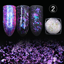 BORN PRETTY Chameleon Nail Sequins Glitter Dust Dazzling Transparent Paillette Manicure Nail Art Glitter Sheet Decorations