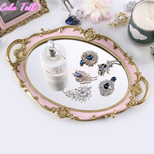 European round tray decoration for cupcake jewelry tray cupcake plate perfume holder wedding party supplier(China)