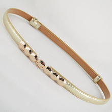 New Fashion Accessories Decorative gold Alloy Buckle Paint thin waist belt girdle belts female for women ladie's girl adjust