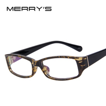 MERRY'S 2015 New Fashion Men Women Square Eye Glasses Frames Unisex Optical Print Glasses PC Computer Radiation in Colors(China)
