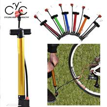 Portable High Pressure Bicycle Bike Tyre Tire Hand Floor Air Inflator Pump Gauge