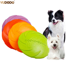 3 Sizes Eco-friendly Natural Product Rubber Material  Dog Toy Frisbee Soft Tough Training Pet Dog Toy