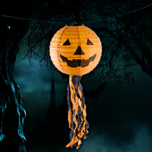 1PC Rustic Pumpkin Light Halloween Decoration Party Supplies Accessories Hanging Paper Lantern Lamp Outdoor Party Supplies