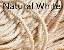DIY handmade cloth accessories twist cotton fabric 3 shares of cotton rope diameter 10mm(China)