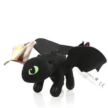 How to Train Your Dragon Toys 23cm/35cm Night Fury Dragon Plush Doll Toys Toothless Dragon Action Figure Toys for Children Kids