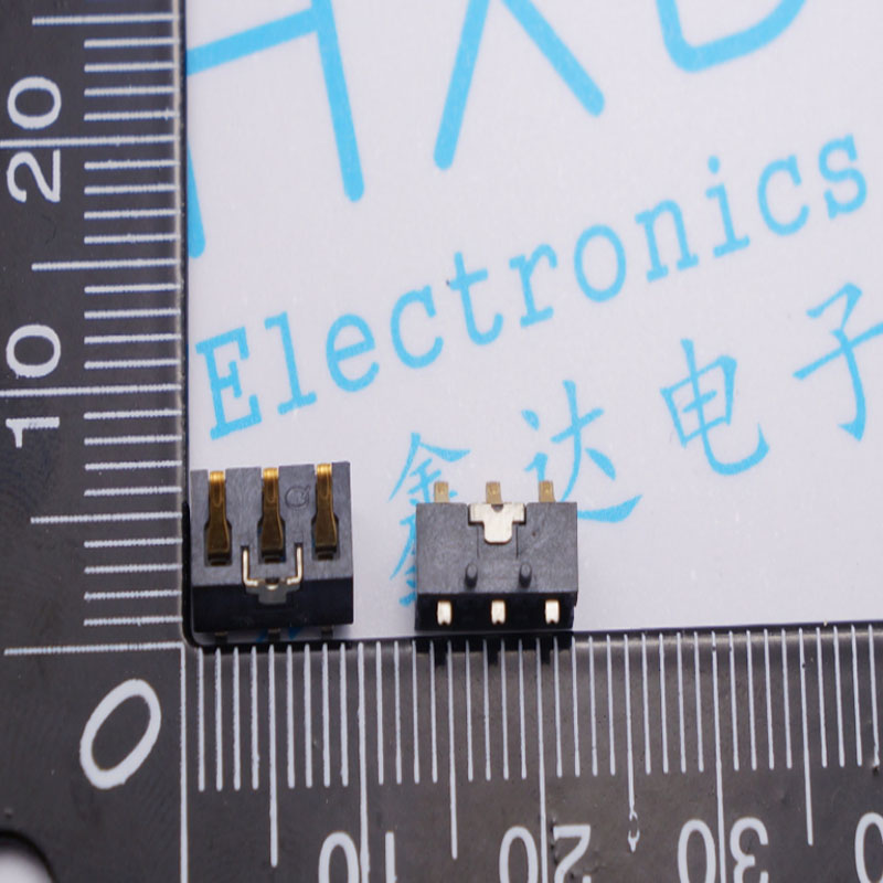 H = 4.6 4.6 MM 3 p cell battery connector shell type<br>