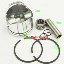 Minimoto 2 Stroke 47cc 40mm Piston 10mm Pin For Engine Parts Chinese Pocket Dirt Bike Mini Kids ATV Quad 4 Wheeler Baby Crosser