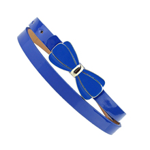 SAF 2016 NEW Charm Waist Belt Spray paint Girl Thin belt Bow style pin buckle Waistband-Royal blue