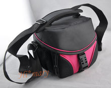 pink Digital Camera Bag Case for Canon eos Nikon D Samsung Fujifilm sony Camcorder