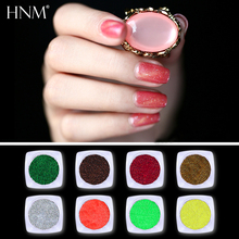 HNM 1 Box Nail Glitter Pigment Powder Art Decoration DIY For Gel Polish Colorful Shining Nail Dust Holographic Powder Glitters(China)